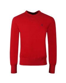 Polo Ralph Lauren Mens Red Panel Fleece Crew Sweatshirt