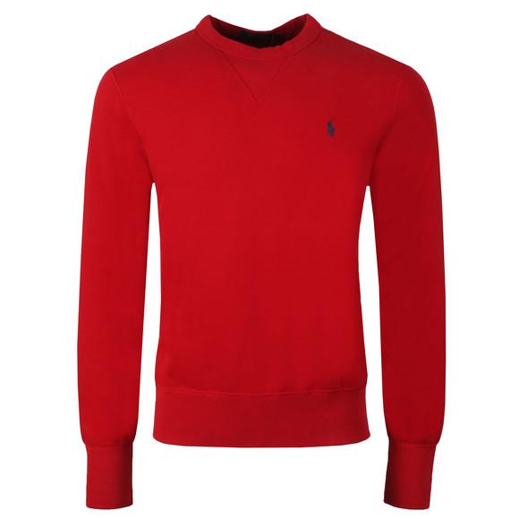 Polo Ralph Lauren Mens Red Panel Fleece Crew Sweatshirt main image