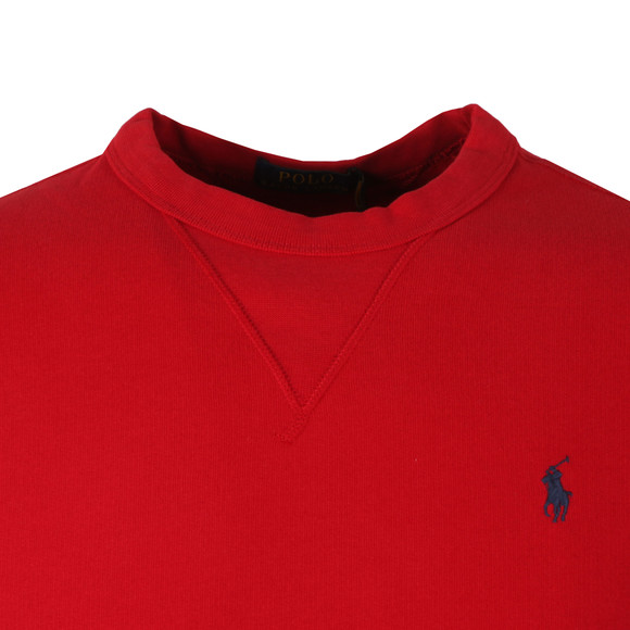 Polo Ralph Lauren Mens Red Panel Fleece Crew Sweatshirt main image