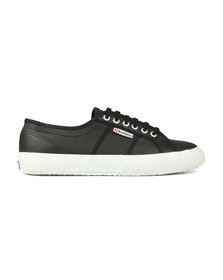Superga Mens Black 2750 Leather Trainer