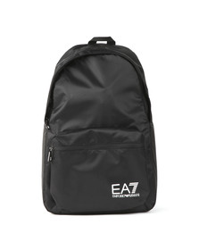 EA7 Emporio Armani Mens Black Logo Backpack