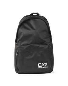 EA7 Emporio Armani Mens Black Logo Backpack