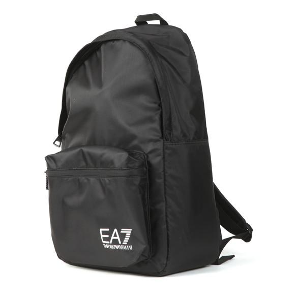 EA7 Emporio Armani Mens Black Logo Backpack main image