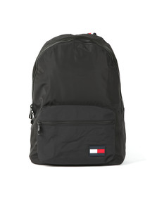 Tommy Hilfiger Mens Black Backpack Sports Tape