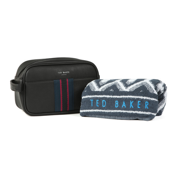 Ted Baker Mens Black Benny Webbing Wash Bag And Towel main image