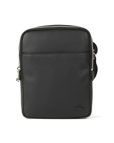 Lacoste Mens Black Leather Crossover Bag
