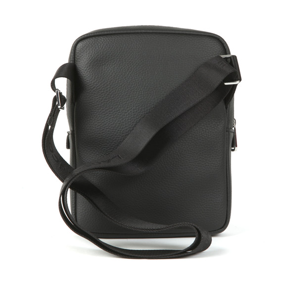 Lacoste Mens Black Leather Crossover Bag main image