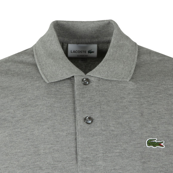 Lacoste Mens Grey L1264 Plain Polo main image