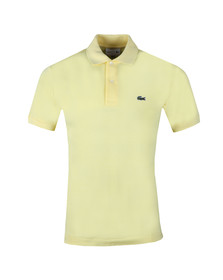 Lacoste Mens Yellow Plain Polo Shirt