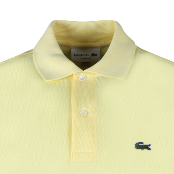 Lacoste Mens Yellow Plain Polo Shirt main image