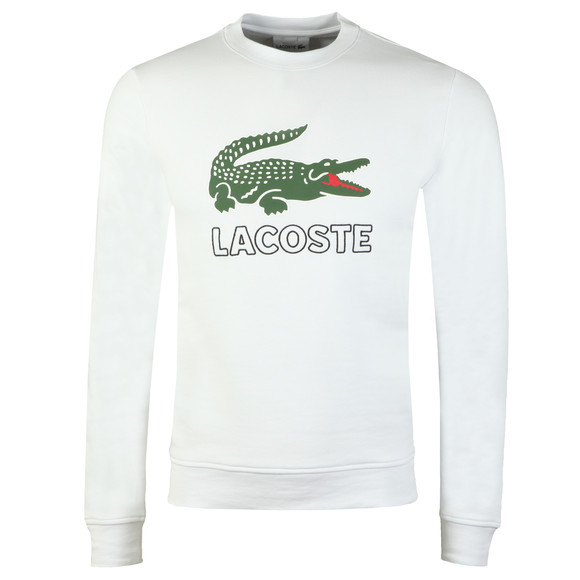 Lacoste Mens White SH6382 Sweatshirt main image