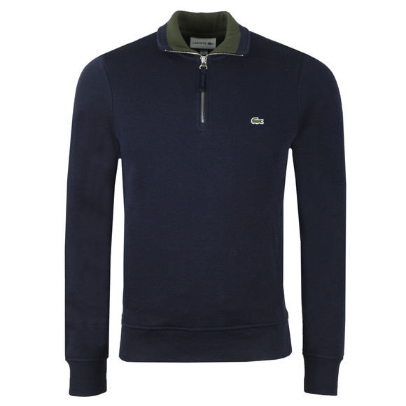 Lacoste Mens Blue SH4288 1/2 Zip Sweat main image