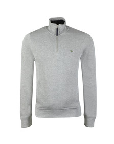 Lacoste Mens Grey 1/2 Zip Sweat