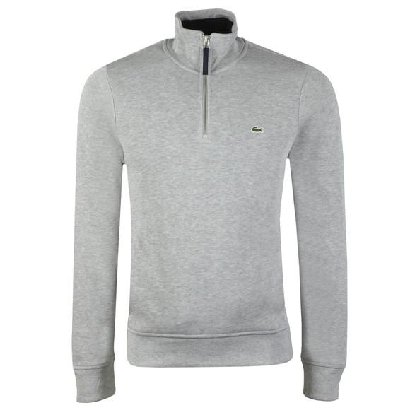 Lacoste Mens Grey SH4288 1/2 Zip Sweatshirt main image