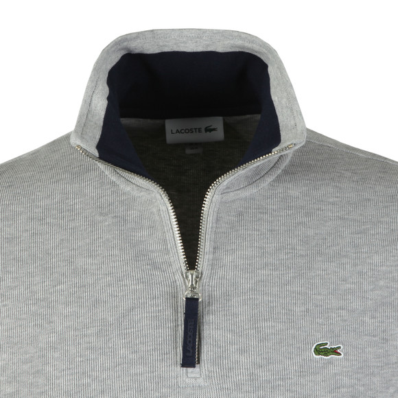Lacoste Mens Grey SH4288 1/2 Zip Sweat main image