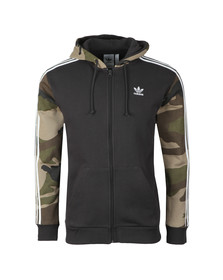 adidas Originals Mens Black Camo Full Zip Hoody