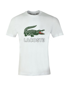 Lacoste Mens White TH6386 Print Tee