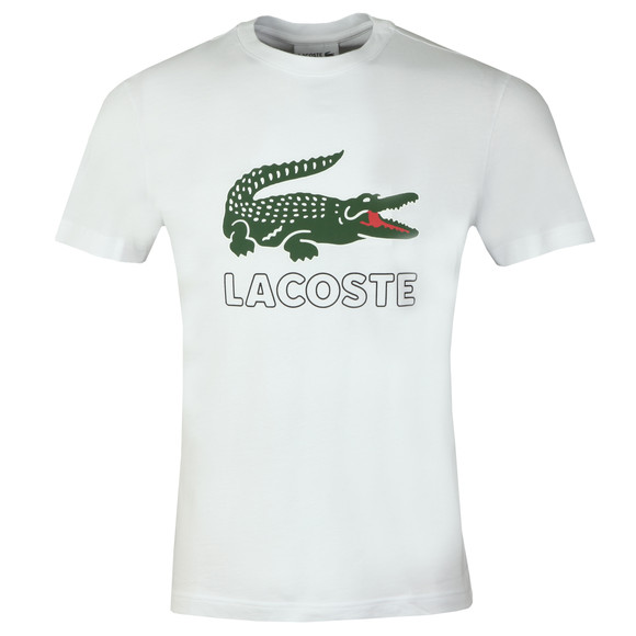 Lacoste Mens White TH6386 Print T-Shirt main image