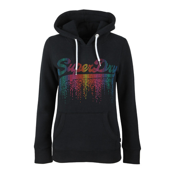 Superdry Womens Blue V Logo Cascade Entry Hoody main image