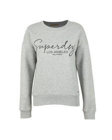 Superdry Womens Grey Alice Crew Sweatshirt