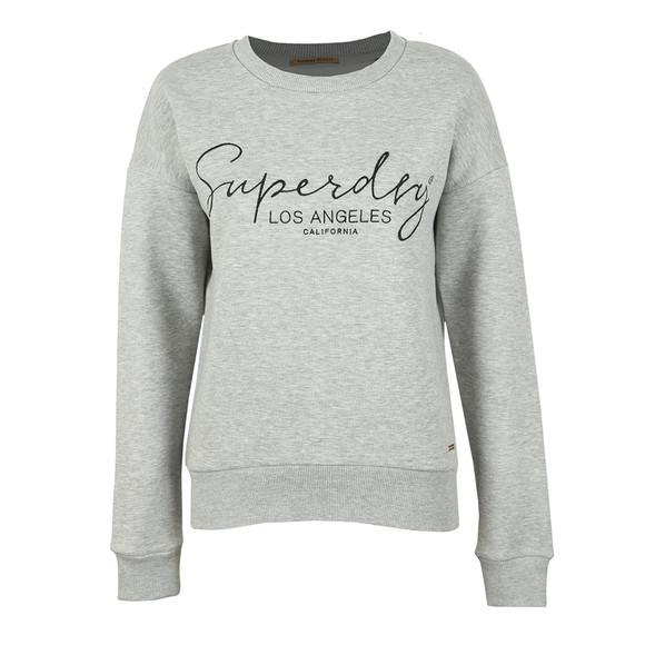 Superdry Womens Grey Alice Crew Sweatshirt main image