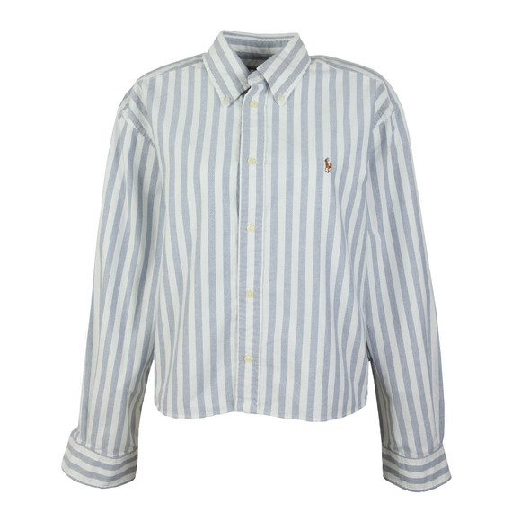 Polo Ralph Lauren Womens White Wide Stripe Shirt