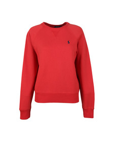 Polo Ralph Lauren Womens Red Fleece Crew Neck Sweatshirt
