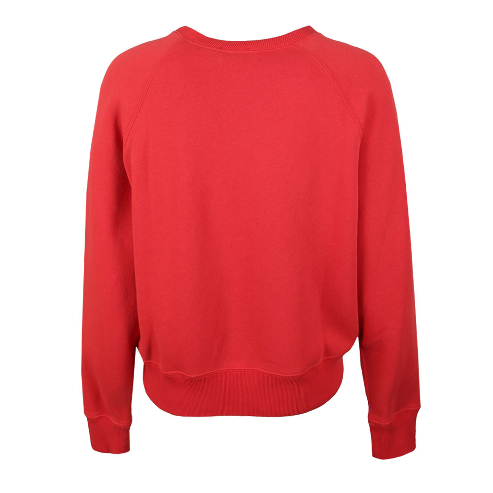 Crew Fleece Neck Red Sweatshirt Womens 5L4j3AR