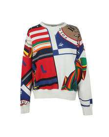 Polo Ralph Lauren Womens White Sailing Print Sweat