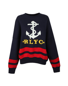 Polo Ralph Lauren Womens Blue Anchor Crew Sweatshirt