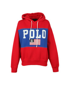 Polo Ralph Lauren Womens Red RLXD Flag Hoody