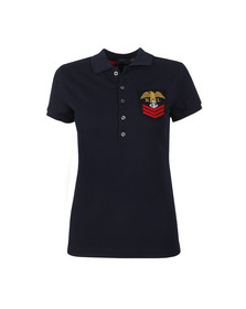 Polo Ralph Lauren Womens Blue Julie Military Polo Shirt