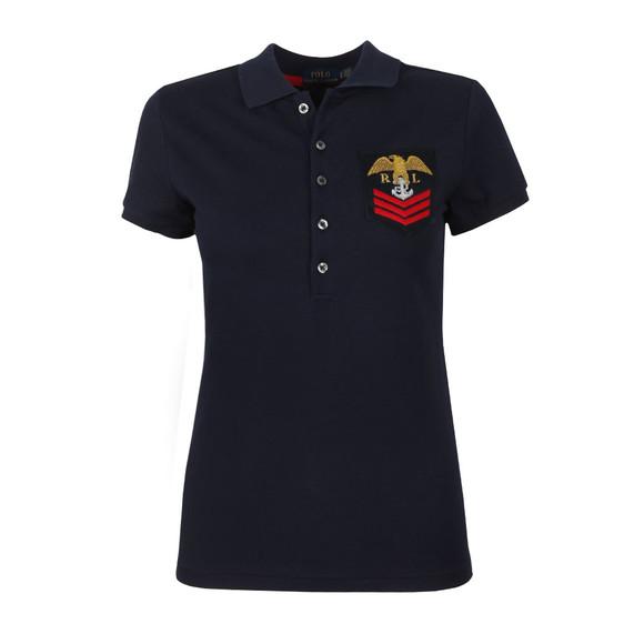 Polo Ralph Lauren Womens Blue Julie Military Polo Shirt