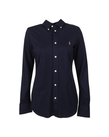 Polo Ralph Lauren Womens Blue Heidi L/S Skinny Knit Shirt