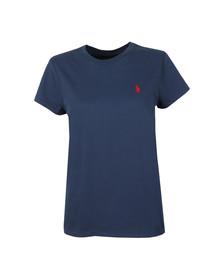 Polo Ralph Lauren Womens Blue Basic Crew T Shirt
