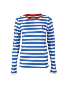 Polo Ralph Lauren Womens Blue Long Sleeve Striped T Shirt