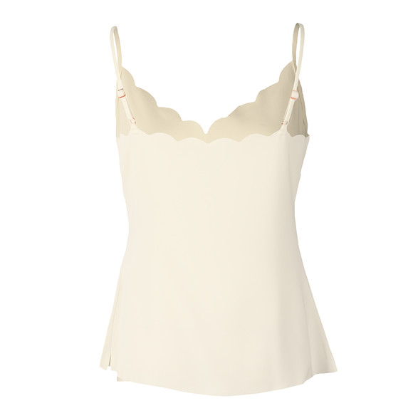 Ted Baker Womens Off-White Siina Scallop Neckline Cami Top main image