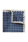 Eton Mens Blue Circle Print Pocket Square