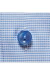 Eton Mens Blue Slim Self Pattern Shirt