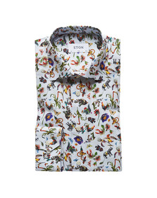 Eton Mens Multicoloured Animal Flower Pattern Shirt