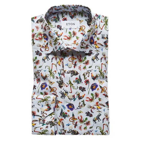 Eton Mens Multicoloured Animal Flower Pattern Shirt