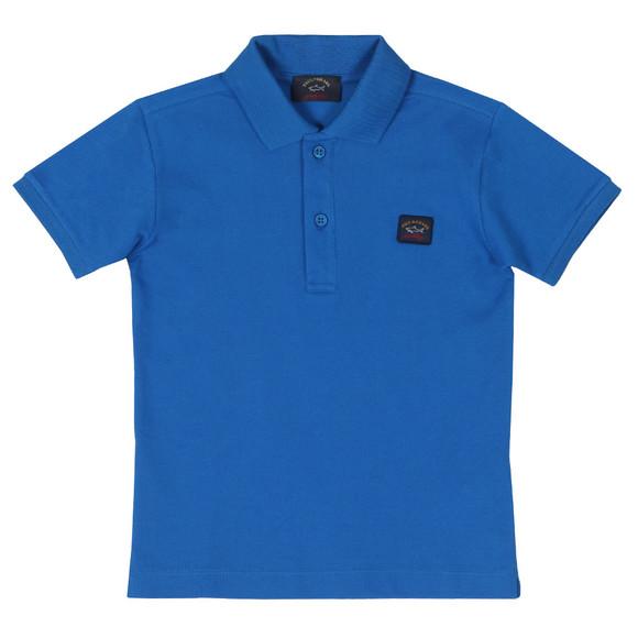 Paul & Shark Cadets Boys Blue Chest Badge Polo Shirt main image