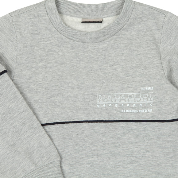 Napapijri Boys Grey Piped Crew Sweatshirt main image