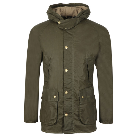 Barbour Lifestyle Mens Green Lightweight Hooded Bedale Jacket main image