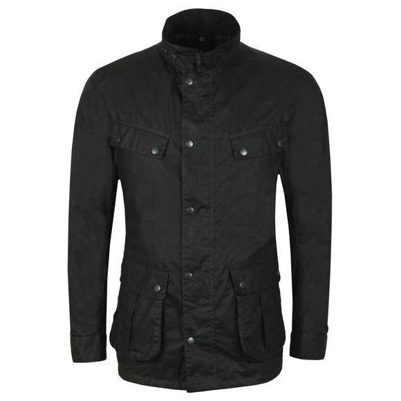 Barbour International Mens Black Lightweight Duke Wax Jacket main image