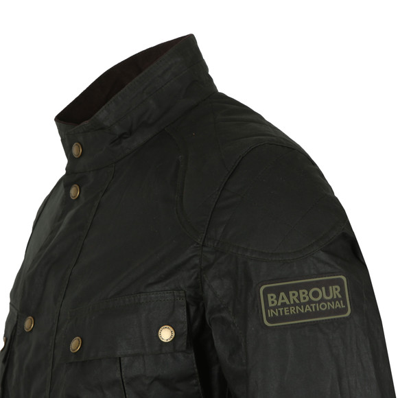 Barbour International Mens Green Lightweight Lockseam Wax Jacket main image
