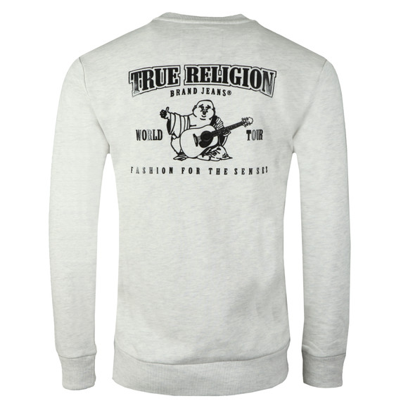 True Religion Mens Grey Buddha Crew Neck Sweatshirt main image