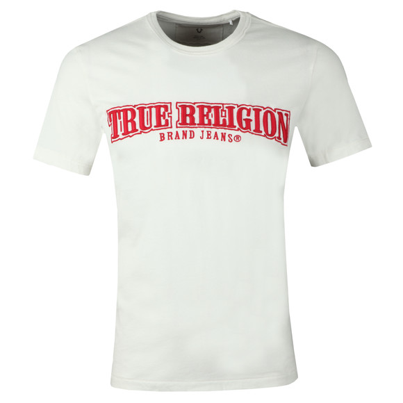 True Religion Mens White Arch True T-Shirt