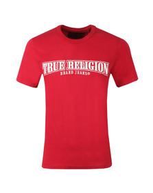 True Religion Mens Red Arch True T Shirt