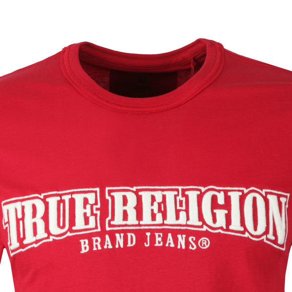 True Religion Mens Red Arch True T-Shirt